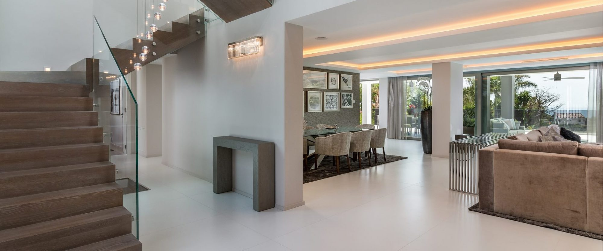 entrance through to main entertaining areas and terraces