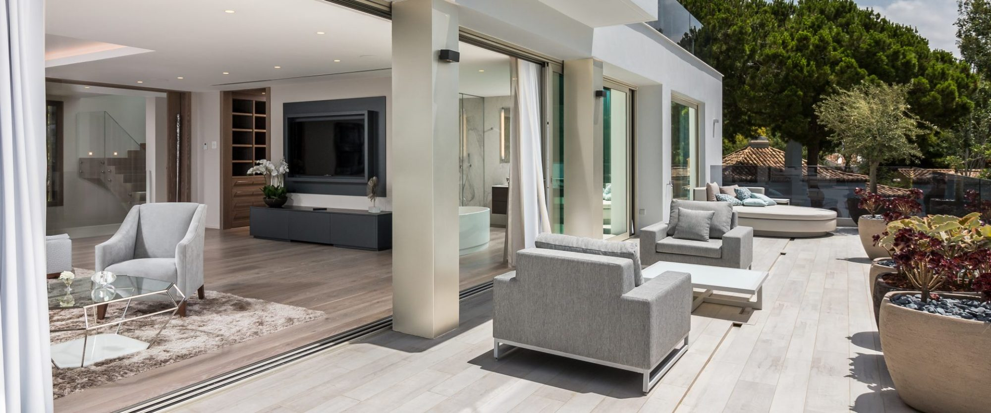master suite opening to sea view terraces