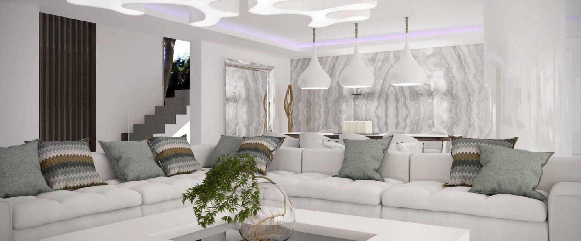 contemporary villa for sale in marbella large reception room