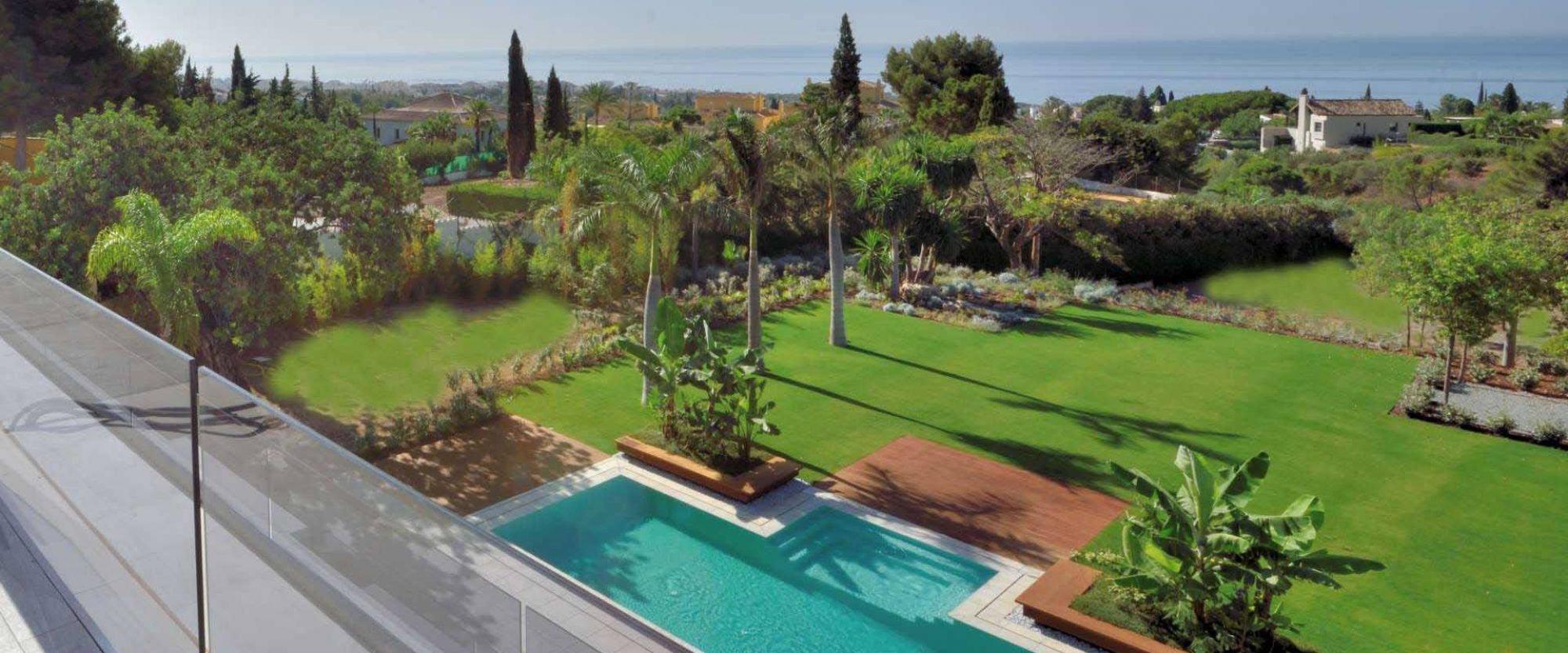 roof terrace views from Cascada de Camojan Villa for sale